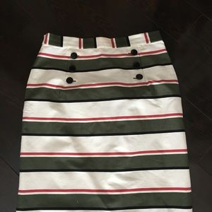 Dresses & Skirts - Nine West multi-colored stripped pencil skirt, NEW